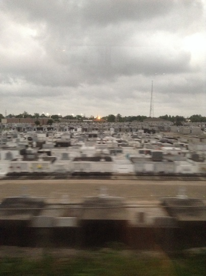 Metairie Cemetary from The Crescent