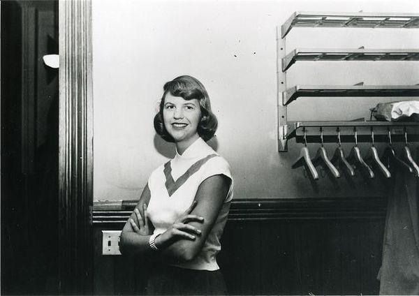 Sylvia Plath at Smith College 1952